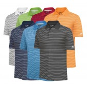 Adidas Climalite Two-Color Stripe Golf Polo - Adidas Golf
