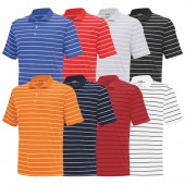 Adidas PureMotion 2-Color Stripe Jersey Polo - Adidas Golf