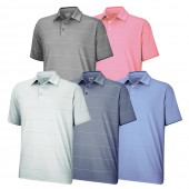 Adidas ClimaLite Heathered Thin Stripe Polo - Adidas Golf