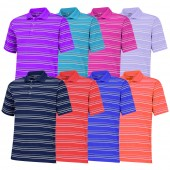 Adidas Puremotion Textured Stripe Polo - Adidas Golf