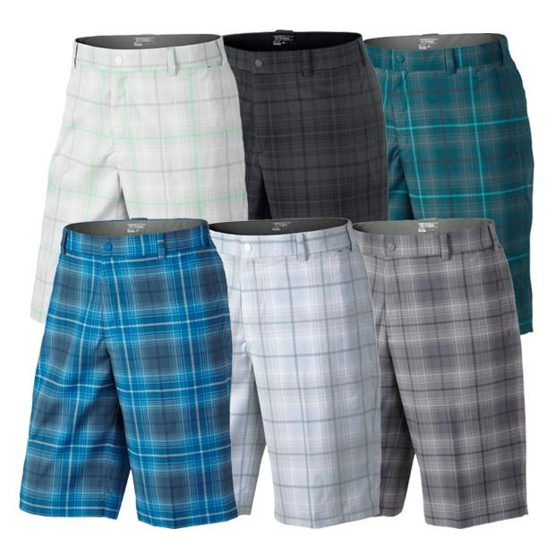 Nike Tartan Golf Shorts Discount Mens